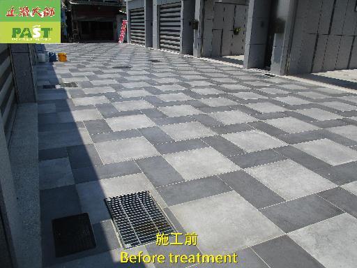 止滑大師 1291 社區 戶外 車庫前 車道 石英磚地面止滑防滑施工工程   相片